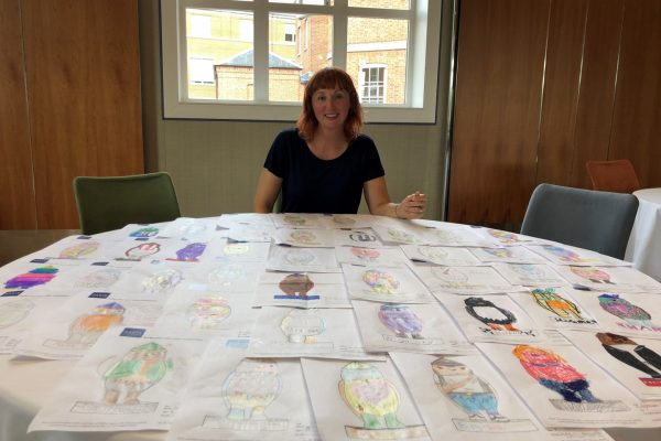 Donna Newman with designs
