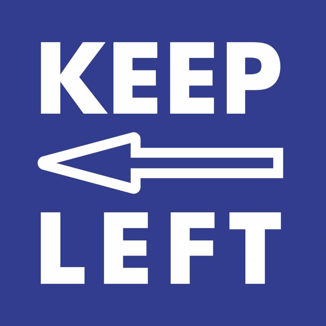 Keep left blue Covid-19