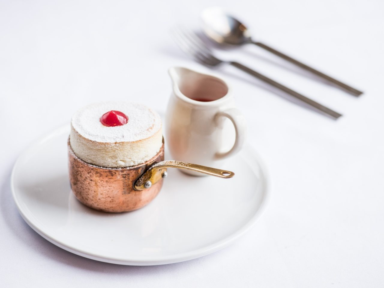 Quince souffle with quince & grenadine sauce Harts_0015