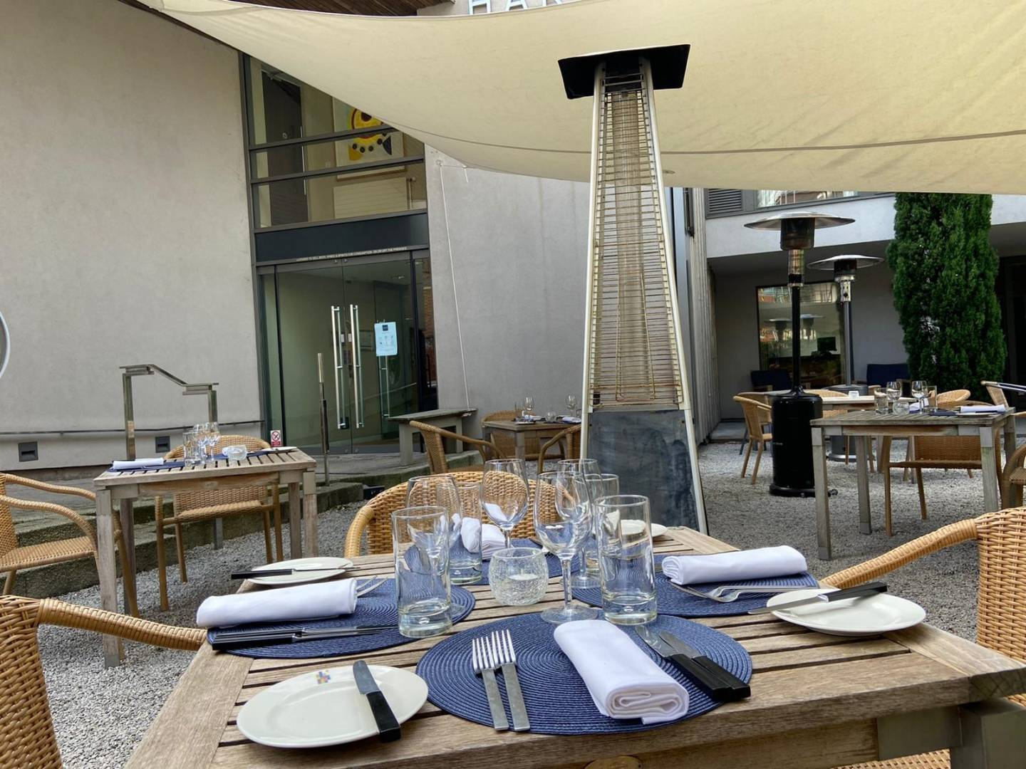 Road map to re-opening - alfresco dining in the courtyard