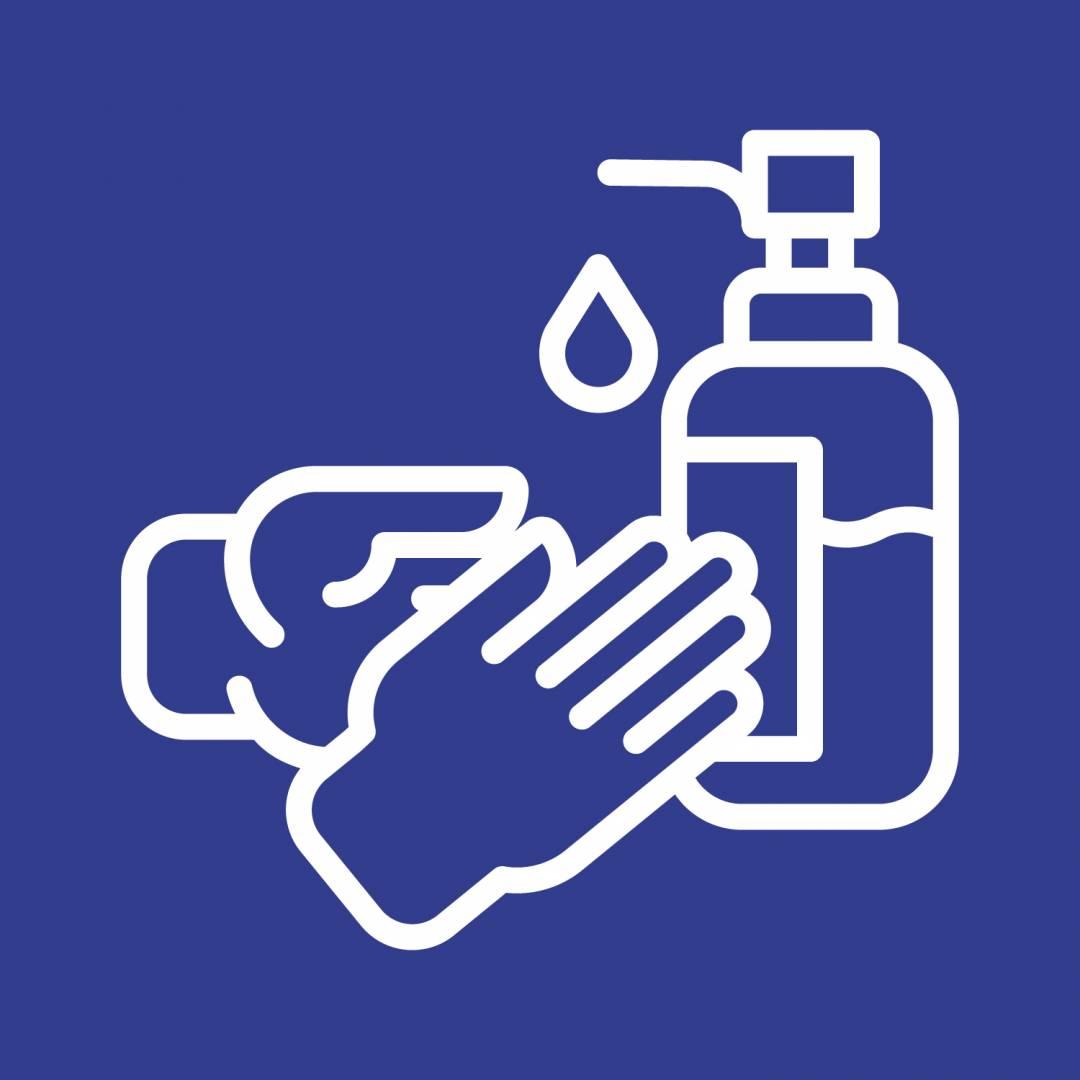 Sanitise blue