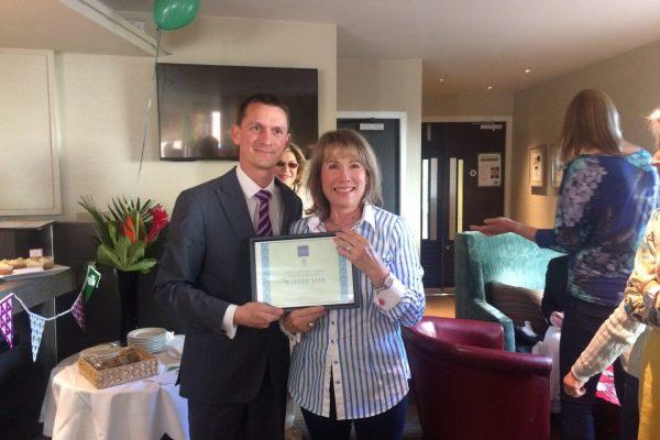 Winner Lisa Lodge from U3A