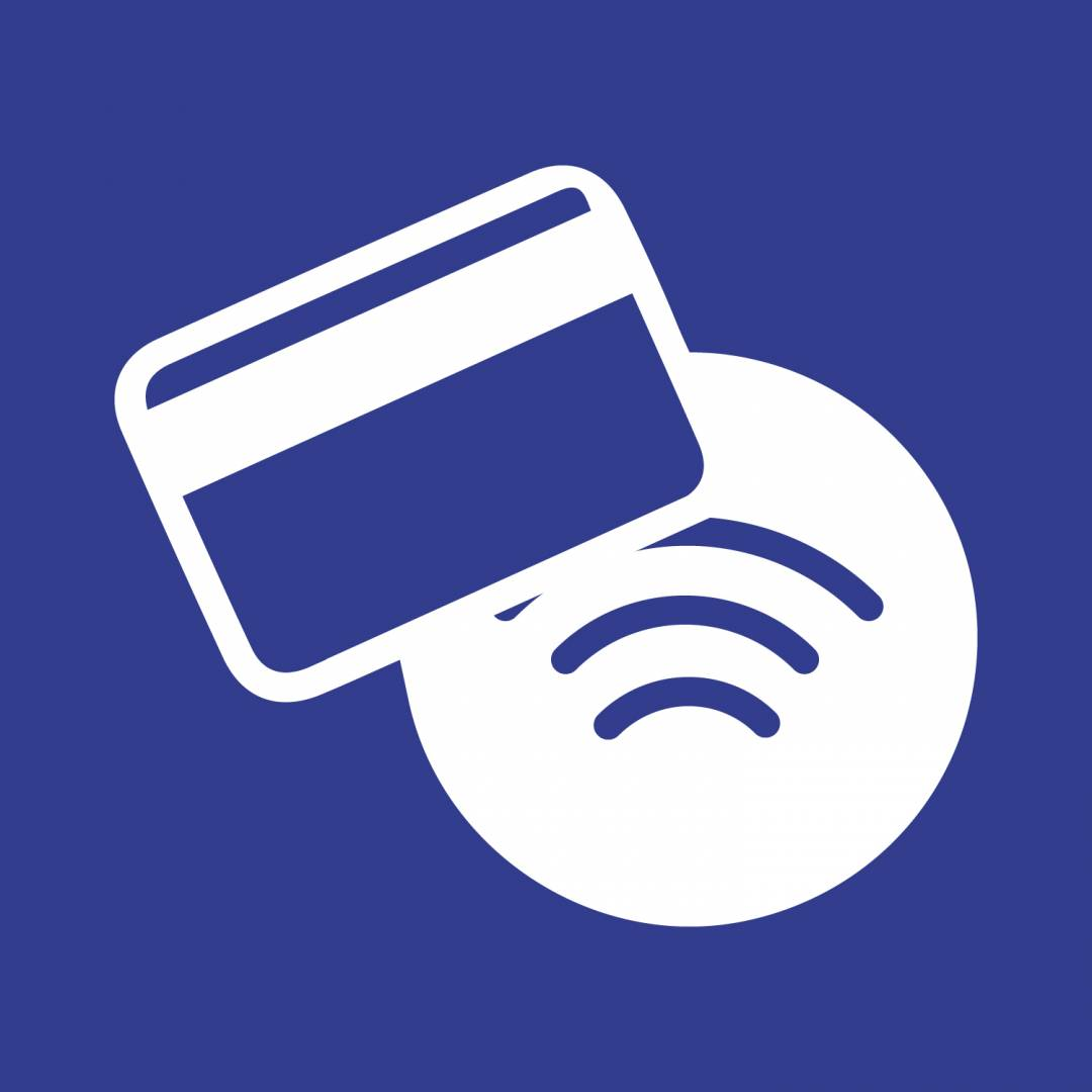 cashless payments blue Covid-19