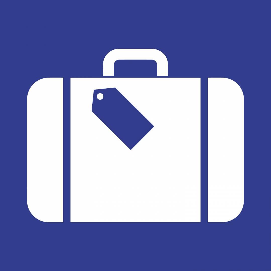 luggage blue Covid-19