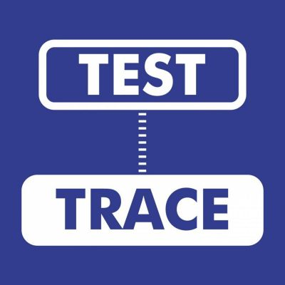 test & trace blue Covid-19